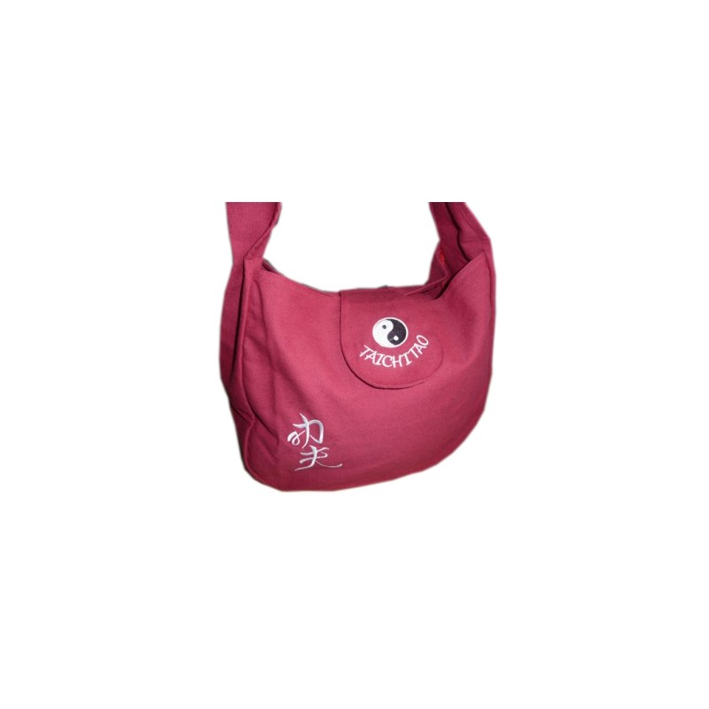 SAC BORDEAUX BRODERIE QI GONG