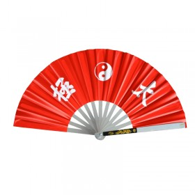 EVENTAIL TAI CHI ROUGE ALUMINIUM - TAICHITAO