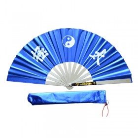 EVENTAIL TAI CHI BLEU ALUMINIUM - TAICHITAO