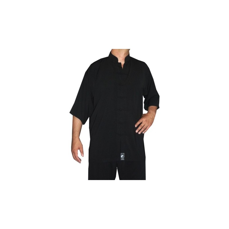 TENUE TAICHI 7 BOUTONS NOIR MANCHES 3-4